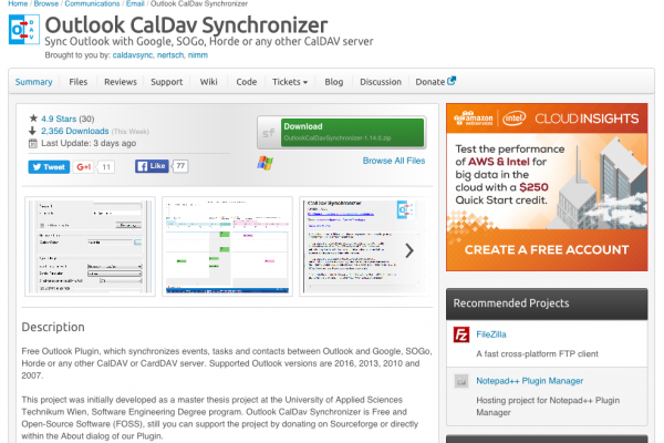 Outlook CalDAV Synchronizer