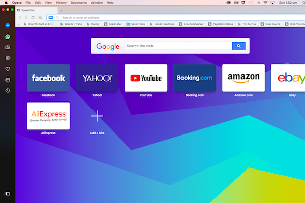 Opera Web Browser with VPN